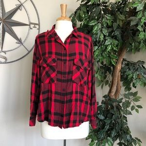 Sanctuary Flannel - Red and Black XL